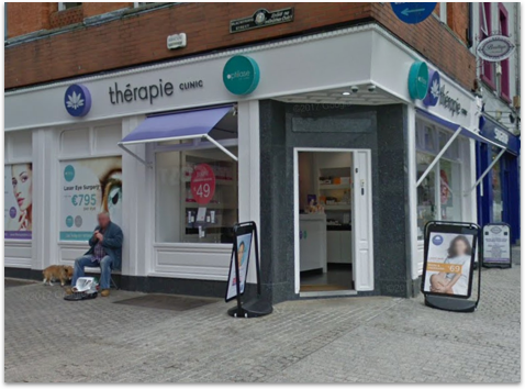 Outside image of Thérapie Clinic Waterford