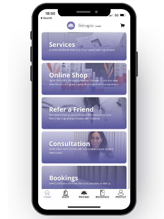 Thérapie Clinic App screenshot [image]