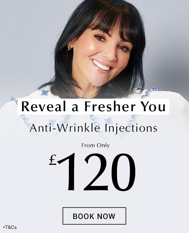 Martine McCutcheon gets Anti-Wrinkle injections at Thérapie Clinic