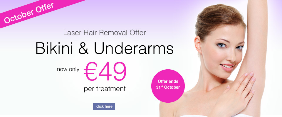 Bikini Underarm laser hair removal offer