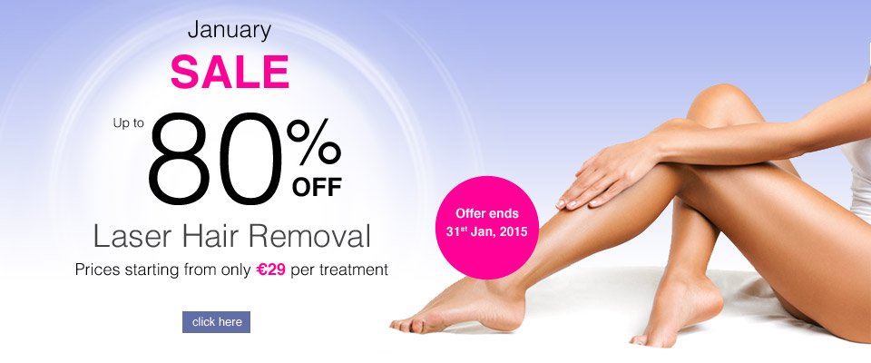 Up to 80% off  laser hair removal offer